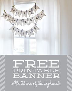 What's Up with The Buells: FREE PRINTABLE BANNER (FOR ANY OCCASION)