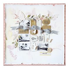 beautiful layout - love the use of tags, kraft and white, butterflies [JBS by Wilna]