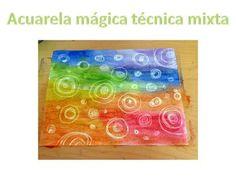 Acuarela mágica técnica mixta>