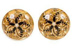 1970s Chanel Oversized Lucite Earrings