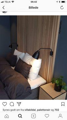 Modern Master Bedroom, Bedroom Bed Design, Gray Bedroom, Bedroom Inspo, Backboards For Beds, Grey Walls, My New Room, Living Room Decor, Bedhead