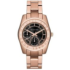 MICHAEL Michael Kors 'Ryland' Chronograph Bracelet Watch, 33mm ($250) ❤ liked on Polyvore
