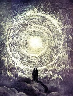 Mandalas - Radial Symmetry III  Gustave Dore, Dante and Beatrice 1865