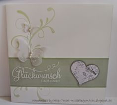 Hochzeitskarte mit Stampin Up: Verwendete Stempelsets:  Everything Eleanor, Tag der Tage und I love Lace
