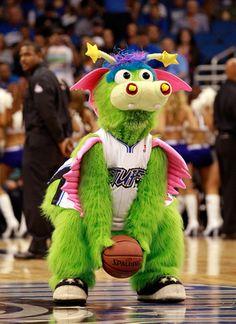 Orlando Magic mascot, Stuff the Magic Dragon.