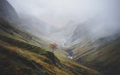 The Lost Valley, Glencoe, Scotland I watched a lone piper sing to the mist