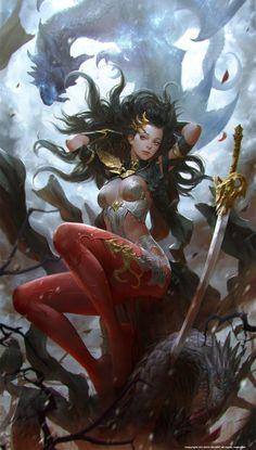 dragon lady, KILART _ on ArtStation at http://www.artstation.com/artwork/dragon-lady-ea7e47af-ae2c-4aec-ba41-19052f25c61b