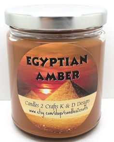 Scented Soy Candle Egyptian Amber Novelty Around the World scented candle Home and Living Home decor 9 oz container candle by Candles2Crafts on Etsy