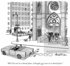 """Premium Giclee Print: """"Me? I'm not in a dental plan. I thought you were in a dental plan."""" - New Yorker Cartoon by J. Political Cartoons, Funny Cartoons, Cartoon Humor, Marriage Relationship, Relationship Problems, New Yorker Cartoons, Dental Plans, The New Yorker, Find Art"""
