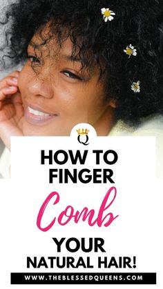 Does Finger Combing Natural Hair works? Here is why you need to give Finger Combing Natural Hair a try! Detangling your natural h. Curly Hair Tips, Curly Hair Care, Hair A, Flat Twist Updo, French Twist Hair, Cowashing Natural Hair, Coconut Oil Hair Treatment, Hair Shrinkage, Hair Fixing