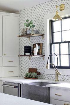 20+ Black Grout ideas   black grout, kitchen tiles, kitchen tiles backsplash Classic Kitchen, Timeless Kitchen, New Kitchen, Kitchen Tiles, Country Kitchen, Kitchen Sink, Kitchen Decor, Kitchen Interior, Timeless Bathroom