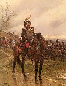 Cuirassier français pendant la Guerre franco-prussienne de 1870 par Alphonse de Neuville.