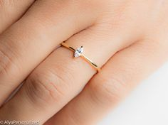 Marquise Cut Engagement Ring Marquise Diamond Ring 14K