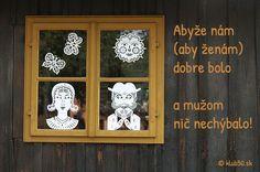 ako sa blahoželalo kedysi: Abyže nám (aby ženám) dobre bolo a mužom nič nechýbalo! zdroj: www.klub50.sk
