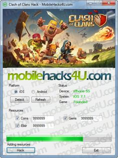 Clash of Clans Hack - MobileHacks4U.com