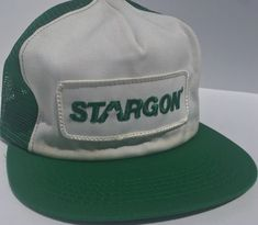 35a982527c7 Vintage STARGON GAS Mesh Snapback Trucker Hat PATCH USA K BRAND Welding   fashion  clothing