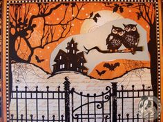 House outline.  Image 12 Nicole Eccles -Graphic 45 A Place and Time October Calendar Tutorial