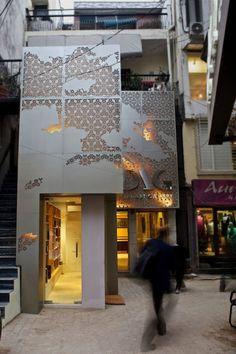 Delhi Art Gallery Re-Design / Abhhay Narkar - Architecture - Perforated Metal Panel, Metal Panels, Facade Design, Exterior Design, Metal Screen, Building Facade, Building Skin, Contemporary Abstract Art, Decorative Panels