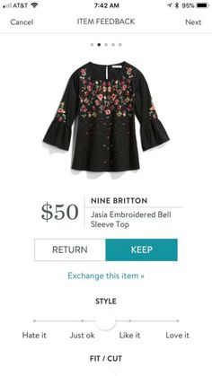 I know I already have the embroidered sweater, but I'd take this blouse too 😂❤️ Stitch Fit, Stitch Fix Fall, Lisa, Holiday Tops, Stitch Fix Outfits, Stitch Fix Stylist, Spring Tops, Casual Fall, Mom Style