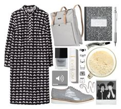"""""""off 330"""" by juuliap ❤ liked on Polyvore featuring Marimekko, Office, Butter London, Muji, Eve Lom, Polaroid and Aesop"""
