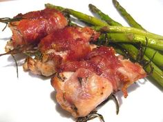Stacey Snacks: Prosciutto Wrapped Chicken Thighs.  I made these a while back, and they turned out perfect!  Will definitely make again.  - Rachel