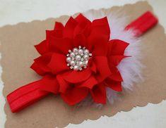 Diadema roja. Cinta de Navidad. Cinta bebé por SofiasBeautyCloset