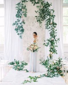 Checkout this ceremony space created by @chapeldesigners @petalsbytheshore. we are most certainly suggesting this look for the #chapeldesignerstrendreport2017. Here is a word from Kelly: I shared this image to represent the greenery trend and love of smilax the CD family has. I think unique and simplistic ceremony decor - back to nature -will be on trend this coming year. Photographer @bonniesenphotography we hope you like this @florists_review