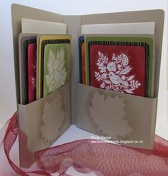 handmade card holder. Gift idea!! (no instructions)