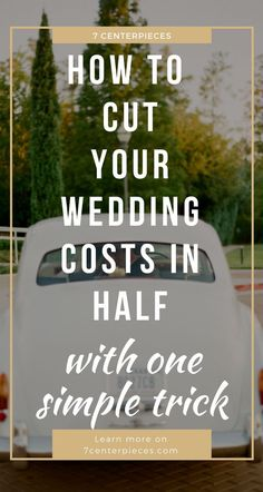 Wedding Planning Wedding budget got you down? This article contains THE BEST way to cut your wedding costs! I've read a lot of articles on how to save on your wedding costs, and this article is hands down the most valuable! Don't wait--PIN IT NOW! Wedding Costs, Wedding Advice, Wedding Planning Tips, Event Planning, Wedding Events, Budget Wedding Hacks, Weddings On A Budget, Cheap Wedding Ideas, Destination Wedding