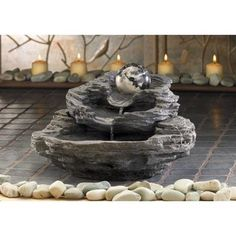Water cascades from rock level to rock level gently spinning marbleized as it is on the move. It will add to the...     You can find this item and more ideals at Great Deals Webstore the BIG store.