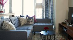 H&H's Joel Bray shares how to add character and personality a new apartment. See how he used vintage accessories, bold decorating moves and personalized deta. Custom Home Builders, Custom Homes, Interior Decorating, Interior Design, Rental Apartments, Upholstered Chairs, Apartment Interior, Apartment Ideas, Interior And Exterior