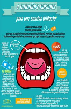 4 remedios caseros para una sonrisa brillante #salud