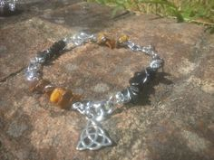 Tigers eye and black Jasper charm bracelet - Lady Star's & Fire, Natural Bleandings, Magical Charms & Understandings