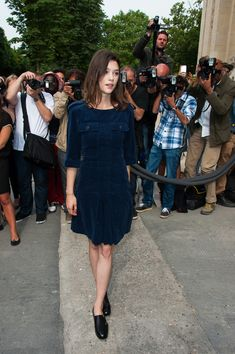 Astrid Berges Frisbey Photos: PFW: Arrivals at the Chanel Runway Show
