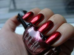 Red CROME nails !