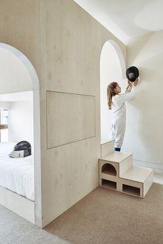 Studio Ben Allen inserts pale plywood children's bedroom into Barbican flat