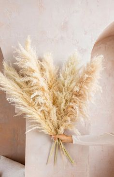Dried Flowers Bouquet Wedding Gifts From Parents Mother Of The Bride Magazine Dried Vervain Bohemian Wedding Flowers, Boho Wedding Decorations, Dried Flower Bouquet, Dried Flowers, Grass Type, Boho Designs, Minimalist Home Decor, Plant Decor, Natural
