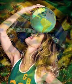 Headball  #collage #digital #fifa #2014 #brasil #model #giselle #photo #matt jones #Elle #soccer - Suzette ✨ @Bazaart