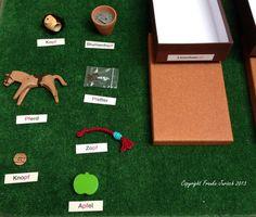 Erstes Schreiben und Lesen - Montessori - Anleitung zur Einführung und Übung des Materials aus den Bereichen Sprache, Mathematik und Kinderhaus