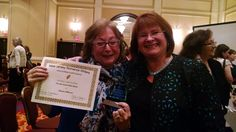 My great friend and critique partner Miriam Allenson won the Gold Leaf award for Best First Book at the NJ Romance Writers conference in 2015. And I got to present it to her! That was so fantastic! The hard part was that I knew ahead of time and I had to avoid giving her even a hint that she was the winner, but I managed it.