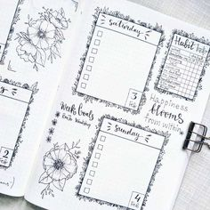 We rounded up 70 of the the most pretty and feminine floral bullet journal spreads to inspire you to be more creative! Floral spreads perfect for beginners Bullet Journal Boxes, Bullet Journal Goals Page, How To Bullet Journal, Bullet Journal Junkies, Bullet Journal Writing, Bullet Journal School, Bullet Journal Inspo, Bullet Journal Spread, Bullet Journal Ideas Pages