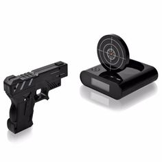 Digital LCD Gun Target Shooting Clock for shooting Upscale Alarm Watch Desk Gadgets, Instruments, Diana, Shooting Guns, Laser, Alarm Clock, Hand Guns, Bookends, Target