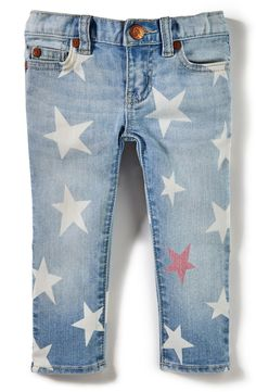 4d50e8ab602a9 Peek Maya Star Print Skinny Jeans (Baby Girls) available at #Nordstrom  Printed Skinny