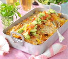 Quickly cooked Taco Gratin. Something that everyone likes: taco flavors together in a gratin. Other Recipes, Meat Recipes, Mexican Food Recipes, Healthy Recipes, Ethnic Recipes, Easy Oven Baked Chicken, Minced Meat Recipe, Scandinavian Food, Swedish Recipes