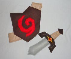 Kokiri Sword - Baby Link Costume, Legend of Zelda / Ocarina of Time $30.00, via Etsy.