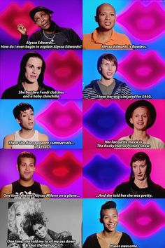 RuPaul's Drag Race. Drag Racing Quotes, Rupaul Drag Race Quotes, Rupaul Quotes, Rupaul Drag Queen, Jinkx Monsoon, Alyssa Edwards, Adore Delano, The Rocky Horror Picture Show, You Better Work