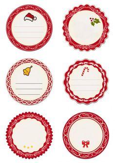 Darmowe etykiety na prezenty: czerwone - Strona 3 - Szablony malarskie - Pokój…