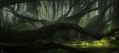 Swamp Study, Hebron PPG on ArtStation at https://www.artstation.com/artwork/swamp-study
