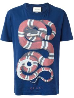 431c260594b GUCCI Snake Print T-Shirt.  gucci  cloth  t-shirt · Mens Cotton T ShirtsPolo  ...