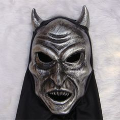 Plastic devil demon mask Full face headgear 27x17 cm golden and silver two colors for your choice Halloween masquerade-in Party Masks from Home & Garden on Aliexpress.com   Alibaba Group